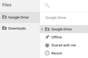 Google Drive in Chrome OS Files app