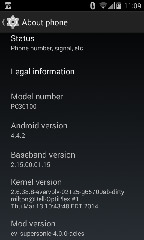 Android 4.4.2 on the original HTC EVO 4G