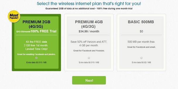 FreedomPop free tablet plan