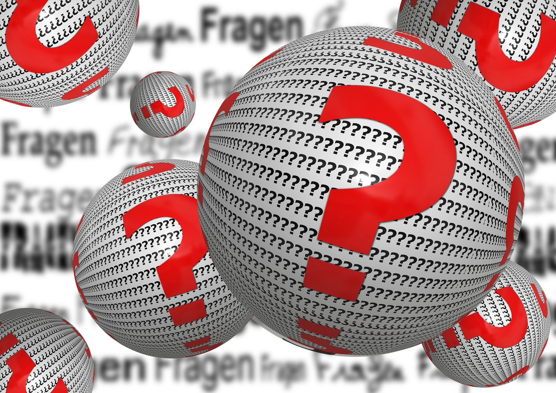 Question Ball from Pixabay - no attribution required, however it's free at pixabay and it's awesome