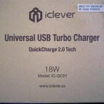 iClever Universal USB Turbo Charger box