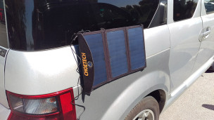 hang in there CHOETECH 19W 3AMP portable solar charger