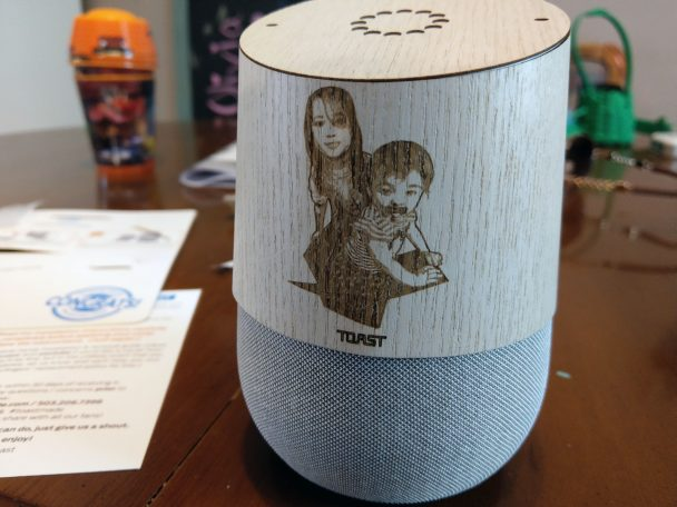 Toast Made custom photo etching Google Home wrap
