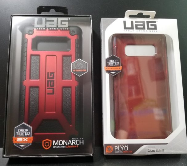 Urban Armor Gear Monarc and Plyo for the Samsung Galaxy Note 8