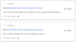 Google Home working with speaker groups and personal library
