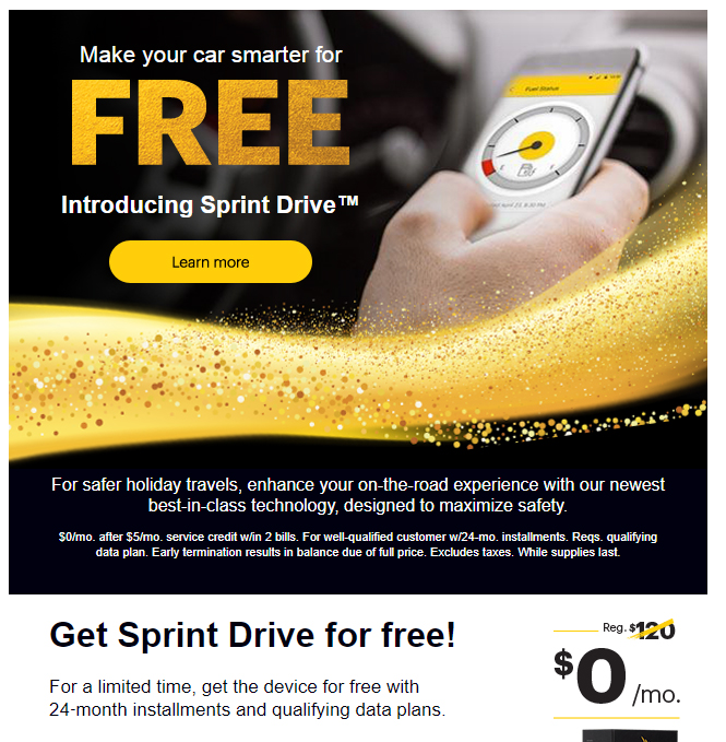 Sprint Drive cost