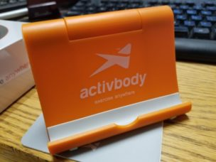 activ5 bluetooth isometric strength trainer tablet or phone stand